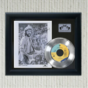 """Eric Clapton """"Layla"""" Framed Silver Signed Record Display"""