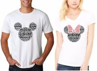 WORDART DISNEY Mickey,Minnie Head FAMILY VACATION 2019 T-SHIRTS add CUSTOM NAMES