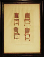 CHAISES - SEDIE - ARREDAMENTO - Encyclopedie du Mueble - 1800