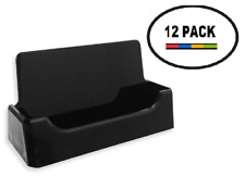 12 Black Acrylic Business Card Holder Tz Tagz Style Plastic Display Stand