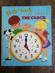 Tick tock all around the clock moving hands Vintage Children's Book Brimax Books