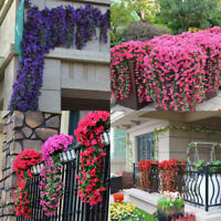 Artificial Hanging Plants Fake Flowers Leaves Long Colorful Silk Ivy VineGarland