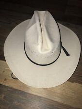 Bandora Straw Cowboy Hat, Cream, Size 6 3/4, Hecho In Mexico, Great Shape!