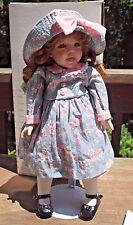 """Linda Steele World Gallery Porcelain Doll 18"""" Darlene 1998 COA Stand Box Bag"""