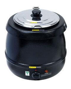 Adcraft SK-600, Economy Soup Kettle, Black Powder Shell