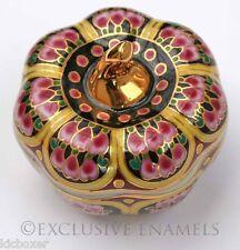 Pumpkin Shaped Oriental Eastern Design Lidded China Trinket Box