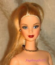 Nude Barbie Mackie face sculpt platinum blonde ponytail