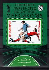6049 BULGARIA 1985 Football World Cup S/S MNH