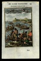 Fishing for Pearls divers 1683 Mallet hand colored print