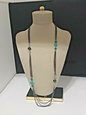 G.H. Bass & Co. Necklace Multi Strand Blue Beads New With Tags