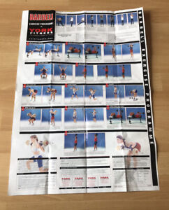 York Barbell / Stretching Training Poster. Weights Exercise. Large Poster Gym