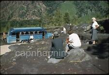 1959 Slide Photo Old BUS Stuck in MUD Stranded Tourists Near PUERTO VARAS Chile