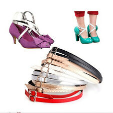 Detachable PU Leather Shoe Straps Laces Band for Holding Loose High Heel OH