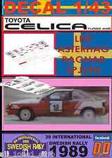 DECAL 1/43 TOYOTA CELICA GT-FOUR LEIF ASTERHAG SWEDISH R. 1989 (01)