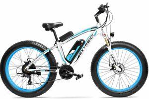 "26"" Blue Fat Tire Electric Snow Bike 48V 1000W XF650-BL"
