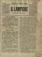Il Lampione Quotidiano Satirico Collodi N.37 Saccheggio di Radetzky 1848