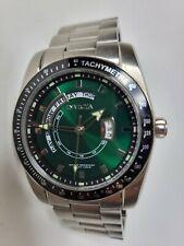 Invicta Specialty Slim Green Men's Quartz Watch Day Date 45mm 31916