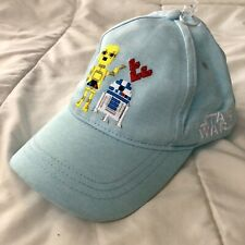 R2D2 & C3PO STAR WARS Love Light Blue / Baseball Cap Hat