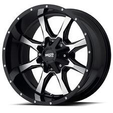 18 inch Moto Metal 18x10 MO970 Rims Wheels Black Machined -24mm 5x127 5x139.7