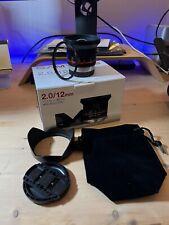 Samyang 12 mm F/2,0 CS MF APS-C Objektiv Hoya UV Filter OVP Fuji X Zubehörpaket