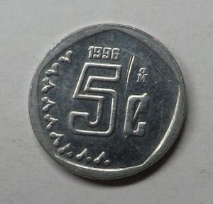 Mexico 5 Centavos 1996Mo Stainless Steel KM#546