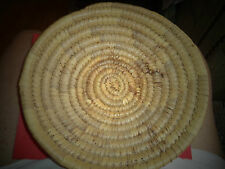 """Primitive Coiled Rye Basket 10'' By 10""""  Sturdy Well Made Rye Basket"""