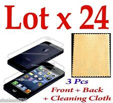 R1i Lot 4 x 3 Pcs = 12 pcs LCD Iphone 5 5S Screen Protector Anti Scratch