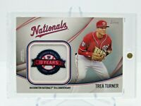 2020 Topps Series 2 Trea Turner Jumbo Jersey Sleeve Patch Nationals Relic
