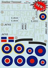 Print Scale 48-125 Decal for Hawker Tempest Part-1 1:48