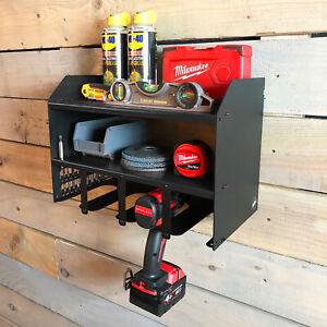 MegaMaxx Makita Black Drill Impact Gun Charger Wall Tool Rack Shelving Storage