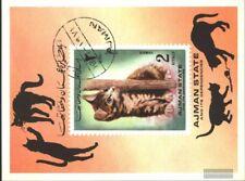 Ajman Bloque 400 (compl.edición) usado 1972 gatos