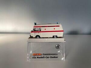 """Brekina Sondermodell, Barkas B 1000 Bus """"Schnelle Medizinische Hilfe"""", in OVP"""