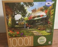 "New Dominic Davison Flying Scotsman Train Puzzle 1000 pc. 20""x27"""