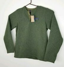 Patagonia Men's Better Sweater Fleece Green Henley Pullover Size Small