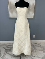 maggie sottero wedding  Strapless Lace dress Size  14