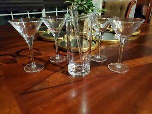 6 piece Acrylic Metro Martini Set