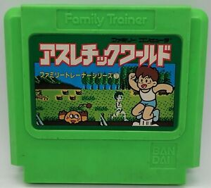 Genuine Family Trainer: Athletic World Game for Nintendo Famicom JAPANESE TESTED