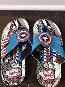 Captain America boys flip flops shoes 3 M