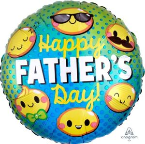 "FATHER'S DAY BALLOON 17"" FATHER'S DAY EMOTICONS ANAGRAM FOIL BALLOON"
