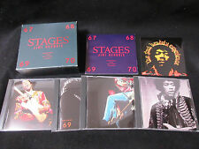 Jimi Hendrix Stages Japan Four CD Box Set with Sticker Sheet in 1992