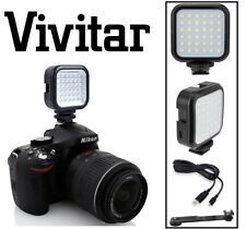 Rechargeable LED Light With Power Cable for Sony DSLR-A350 DSLR-A390L DSLR-A100
