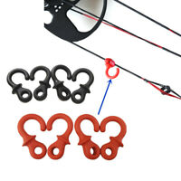 4Pcs Archery Compound Bow String Stabilizer Monkey Tail Rubber Silencer Dampener