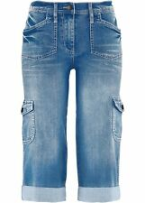 Cargo-Stretch-Jeans mit Bequembund, für Damen in blau, Gr. 50