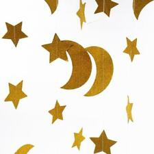 DIY Bunting Garland Hanging Paper Star Moon Xmas Wedding Birthday Party Decor FI