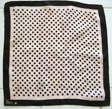 VERA SCARF CLASSIC POLKA DOT BROWN BEIGE Acetate Vintage 1970's Made in Japan