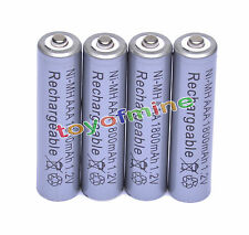 4x AAA 1800mAh 1.2V Ni-MH Rechargeable battery 3A Grey Cell for MP3 RC Toys