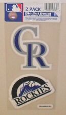 MLB COLORADO ROCKIES 2 4X4 DECALS FAST FREE SHIPPING