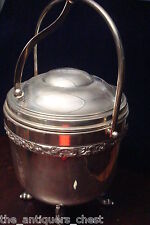 Sheffield silverplate Insulated Thermo Ice Bucket hinged lid[*]