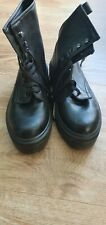 Very Black Lace Up Grunge Style Boots Size 5