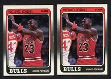 1988-89 Fleer #17 Michael Jordan (2) Card Lot WELL CENTERED, CLEAN, CRISP
